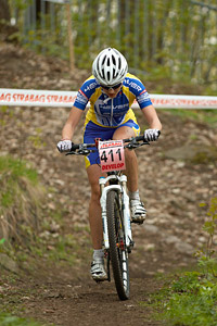 Lenka Bulisova at Czech MTB cup (2013)