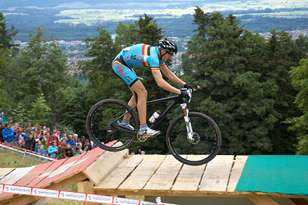 Kevin Van Hoovels at European Continental Championships - XCO - Bern (2013)