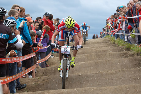 Pavel Priadein at European Continental Championships - XCO - Bern (2013)