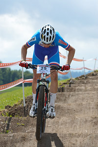 Filip Kubin at European Continental Championships - XCO - Bern (2013)