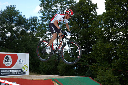 Leo L'Homme at European Continental Championships - XCO - Bern (2013)