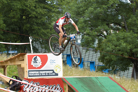 Emilien Barben at European Continental Championships - XCO - Bern (2013)