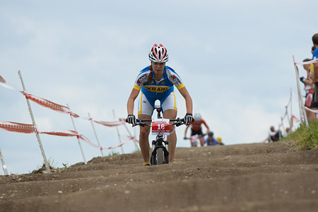 Marta Tereshchuk at European Continental Championships - XCO - Bern (2013)