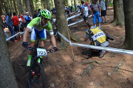Bostjan Hribovsek at UCI MTB WORLD CHAMPIONSHIPS - XCO/XCE (2016)