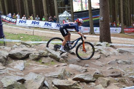 Chloe Woodruff at UCI MTB WORLD CHAMPIONSHIPS - XCO/XCE (2016)