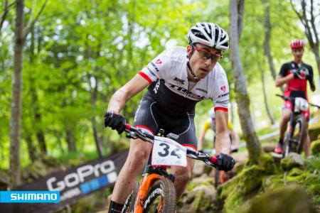 Sergio Mantecon Gutierrez at UCI MTB WORLD CUP - XCO La Bresse (2016)