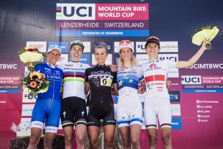 Kateřina Nash at UCI MTB WORLD CUP - XCO - DHI - Lenzerheide (2016)