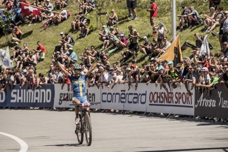 Jenny Rissveds at UCI MTB WORLD CUP - XCO - DHI - Lenzerheide (2016)