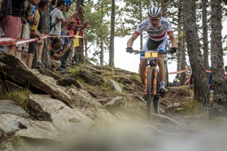 Julien Absalon at UCI MTB WORLD CUP Andorra - XCO - DHI (2016)
