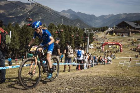 Catharine Pendrel at UCI MTB WORLD CUP Andorra - XCO - DHI (2016)