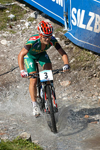 Burry Stander at UCI XCO/XCE WORLD CHAMPIONSHIPS - Saalfelden (2012)