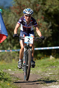 Julie Bresset at UCI XCO/XCE WORLD CHAMPIONSHIPS - Saalfelden (2012)