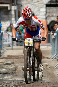 Burry Stander at UCI World Cup XCO 7 / DHI 6 - Val d'Isère (2012)