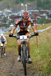 Sergio Mantecon Gutierrez at UCI World Cup XCO 7 / DHI 6 - Val d'Isère (2012)