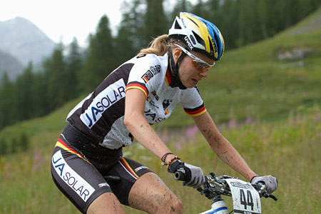 Anja Gradl at UCI World Cup XCO 7 / DHI 6 - Val d'Isère (2012)
