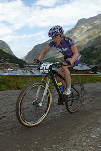 Annie Last at UCI World Cup XCO 7 / DHI 6 - Val d'Isère (2012)