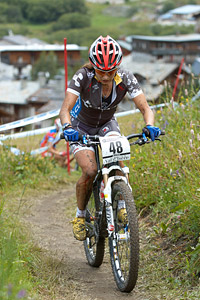 Asa Maria Erlandsson at UCI World Cup XCO 7 / DHI 6 - Val d'Isère (2012)