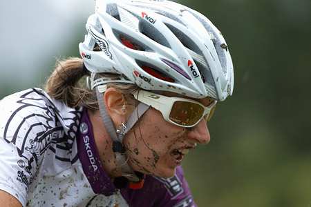Cécile Ravanel at UCI World Cup XCO 7 / DHI 6 - Val d'Isère (2012)
