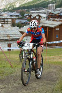 Corina Gantenbein at UCI World Cup XCO 7 / DHI 6 - Val d'Isère (2012)