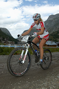 Hanna Klein at UCI World Cup XCO 7 / DHI 6 - Val d'Isère (2012)