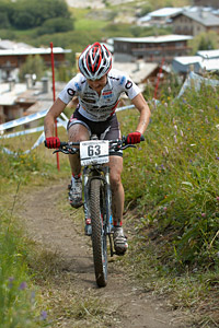 Helene Marcouyre at UCI World Cup XCO 7 / DHI 6 - Val d'Isère (2012)