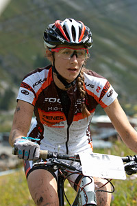 Julie Krasniak at UCI World Cup XCO 7 / DHI 6 - Val d'Isère (2012)