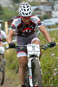 Marie-Helene Premont at UCI World Cup XCO 7 / DHI 6 - Val d'Isère (2012)