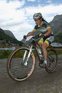 Marielle Saner-Guinchard at UCI World Cup XCO 7 / DHI 6 - Val d'Isère (2012)