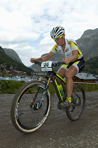 Sabrina Maurer at UCI World Cup XCO 7 / DHI 6 - Val d'Isère (2012)