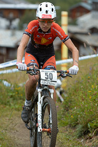 Silke Schmidt at UCI World Cup XCO 7 / DHI 6 - Val d'Isère (2012)