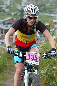 Alicia Franck at UCI World Cup XCO 7 / DHI 6 - Val d'Isère (2012)