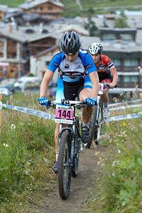 Estelle Relave at UCI World Cup XCO 7 / DHI 6 - Val d'Isère (2012)
