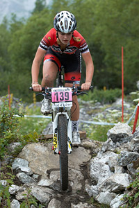 Imogen Buick at UCI World Cup XCO 7 / DHI 6 - Val d'Isère (2012)