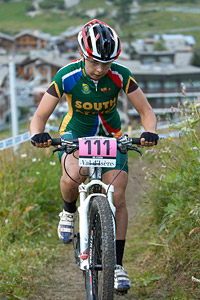 Linda Van Wyk at UCI World Cup XCO 7 / DHI 6 - Val d'Isère (2012)