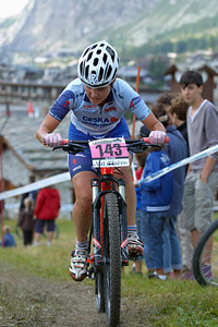 Marketa Drahovzalova at UCI World Cup XCO 7 / DHI 6 - Val d'Isère (2012)