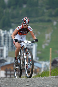 Barbara Benko at UCI World Cup XCO 7 / DHI 6 - Val d'Isère (2012)