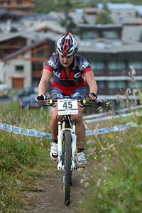 Carla Haines at UCI World Cup XCO 7 / DHI 6 - Val d'Isère (2012)
