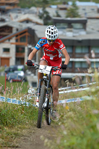 Jolanda Neff at UCI World Cup XCO 7 / DHI 6 - Val d'Isère (2012)