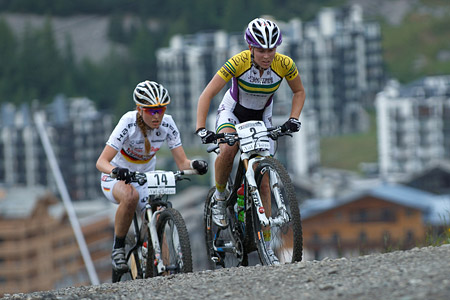Rebecca McConnell at UCI World Cup XCO 7 / DHI 6 - Val d'Isère (2012)