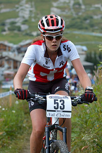 Romaine Wenger at UCI World Cup XCO 7 / DHI 6 - Val d'Isère (2012)
