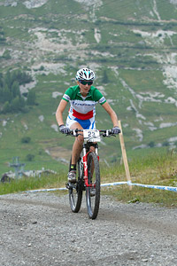 Serena Calvetti at UCI World Cup XCO 7 / DHI 6 - Val d'Isère (2012)