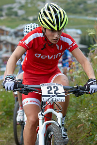 Valerie Meunier at UCI World Cup XCO 7 / DHI 6 - Val d'Isère (2012)