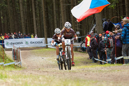 Emily Batty at UCI World Cup XCO / XCE 2 - Nove Mesto na Morave (2013)