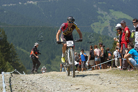 Gareth Montgomerie at UCI World Cup XCO / XCE / DHI 4 - Vallnord (2013)