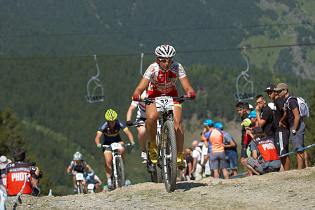 Anna Villar Argente at UCI World Cup XCO / XCE / DHI 4 - Vallnord (2013)