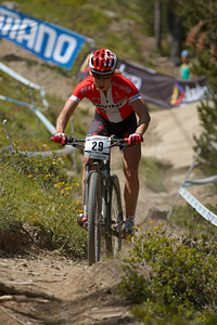 Annika Langvad at UCI World Cup XCO / XCE / DHI 4 - Vallnord (2013)