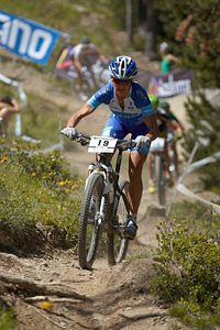 Kateřina Nash at UCI World Cup XCO / XCE / DHI 4 - Vallnord (2013)