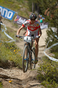 Katrin Leumann at UCI World Cup XCO / XCE / DHI 4 - Vallnord (2013)