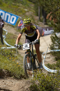 Nadine Rieder at UCI World Cup XCO / XCE / DHI 4 - Vallnord (2013)