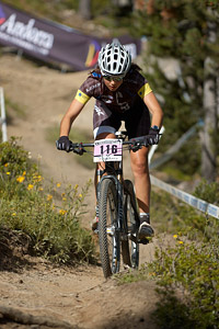 Axelle Murigneux at UCI World Cup XCO / XCE / DHI 4 - Vallnord (2013)